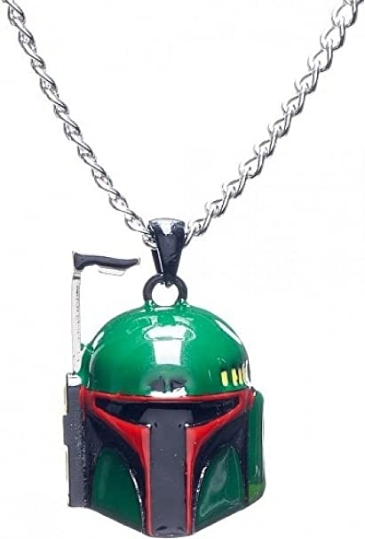 Boba Fett Head 3D Necklace by Bioworld *NEW* Star Wars