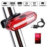 LED Fahrradrücklicht Fahrradbeleuchtung, Icesnail USB Wiederaufladbare LED-Lampe,Ultra Hell IPX6 Wasserdicht Fahrradrückleuchte , 6 Lichtmodi Rücklichter für Fahrrad