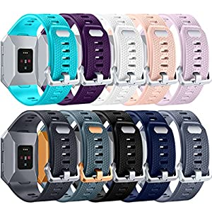 For Fitbit Ionic Bands, Hamile Classic Wristbands Replacement Accessories for Fitbit Ionic Smartwatch, 10 pack Small