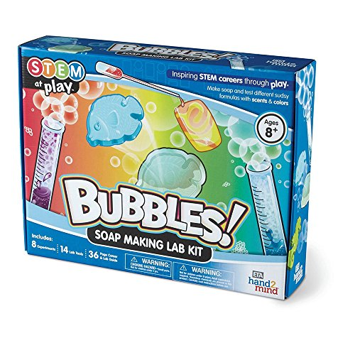 BUBBLES Soap Lab Kit For Kids Ages 8+ - Build 8 STEM Career Experiments and Activities | Make Oatmeal Soup, Scented Soup, Dried Flowers Soap, and More | Educational Toy | STEM Authenticated