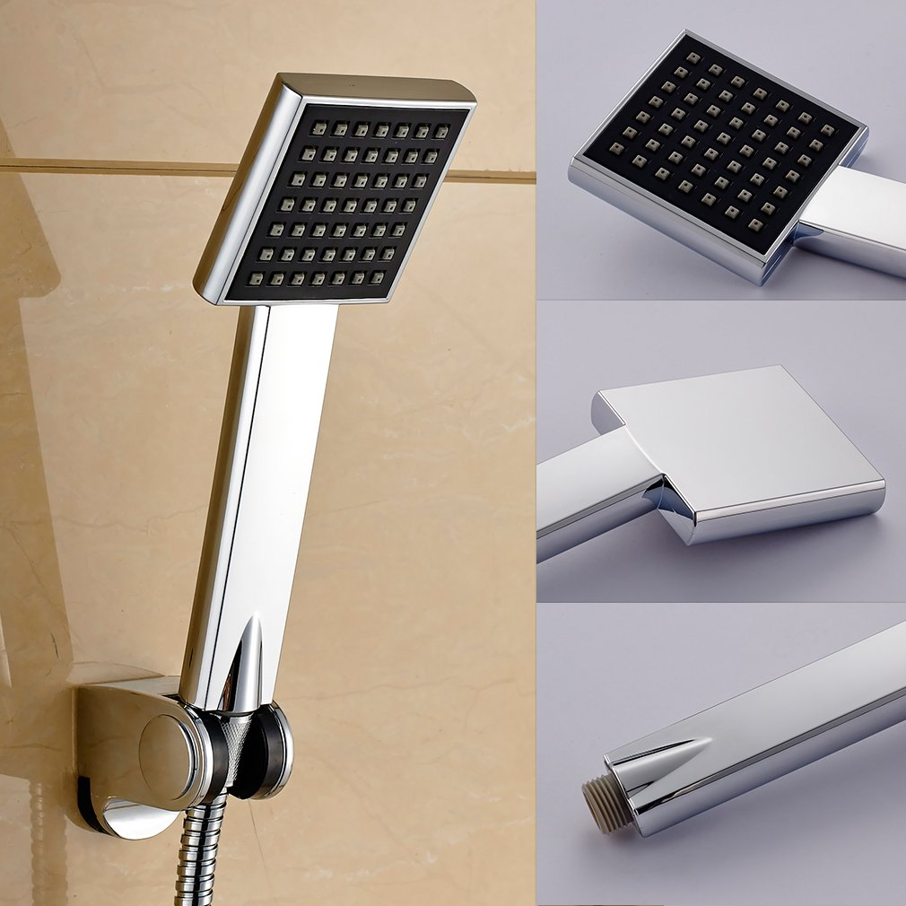 Auralum ® unica funzione doccia a mano/elegante-Doccetta di testa, accessorio per la doccia installazione del bagno Bricolage Type B LONGACE