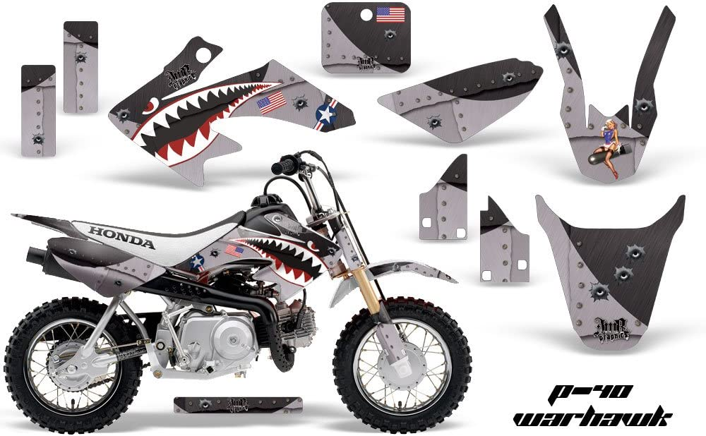 2004-2019 HONDA CRF 50 GRAPHICS CRF50 RED BLACK MOTOCROSS STICKERS DECALS KIT