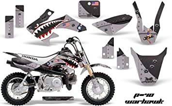 Bone Collector Silver AMR Racing MX Dirt Bike Graphics kit Sticker Decal Compatible with Honda CRF50 2004-2013