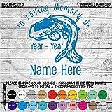 In Memory Koi Fish Vinyl Die Cut Decal Sticker for Car Laptop etc.