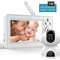 Bable Vigilabebés con tecnología Delay-Free, 2.4GHz vigilabebes con cámara, visión nocturna por infrarrojos, charla bidireccional, vigilancia de temperatura