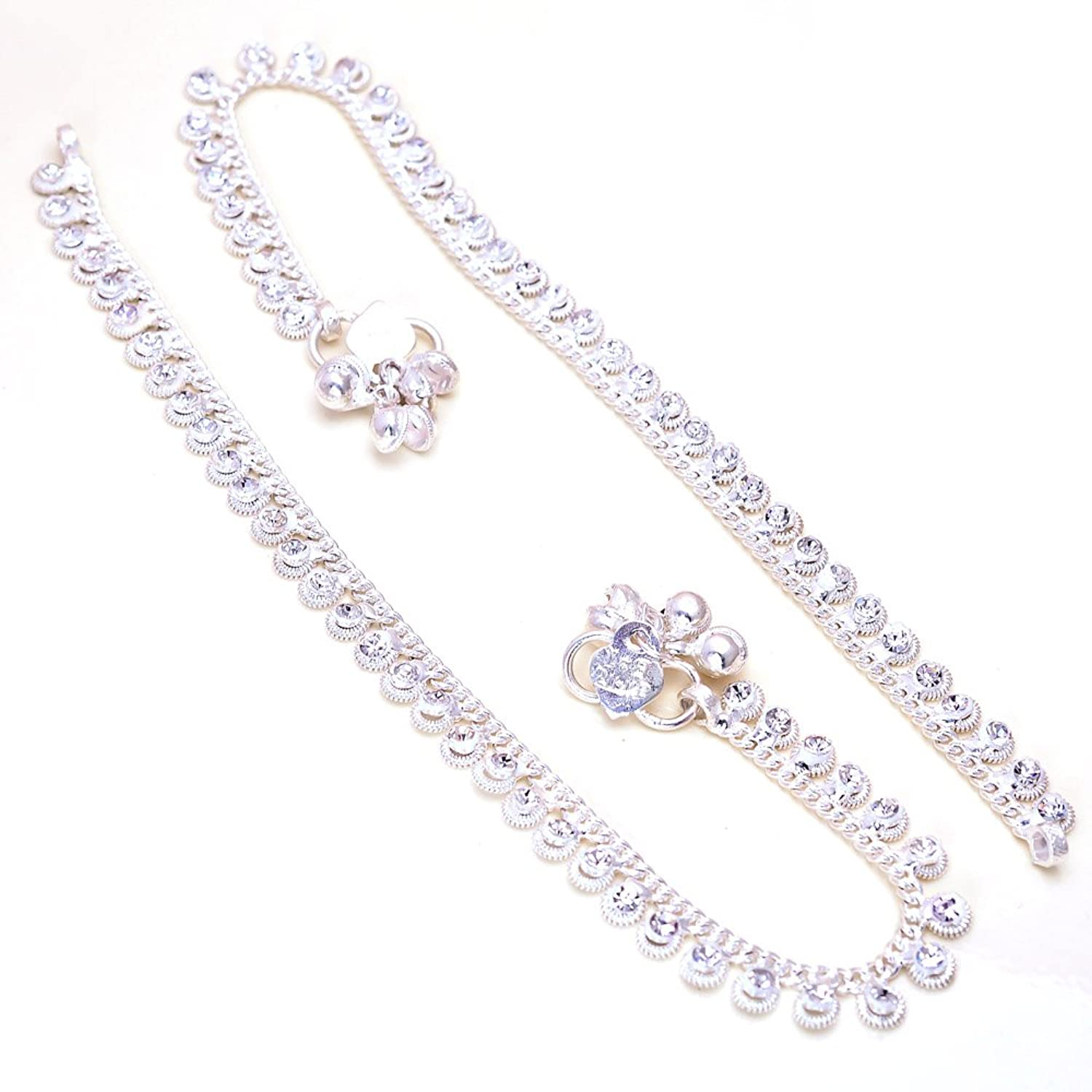 set indian par women payal itm chain anklet designer goldtone jewelry