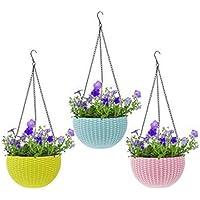 GTB Hanging Planter Flower Pot Basket Plant Container Set Bowl Shape Big size-fp-01 3 pc
