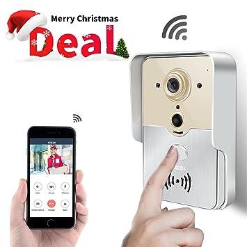 FREDI Smart Home WiFi Remote Video Door Phone Intercom Doorbell Camera HD 720P Support P2P Alarm  sc 1 st  Amazon.com & Amazon.com : FREDI Smart Home WiFi Remote Video Door Phone ...