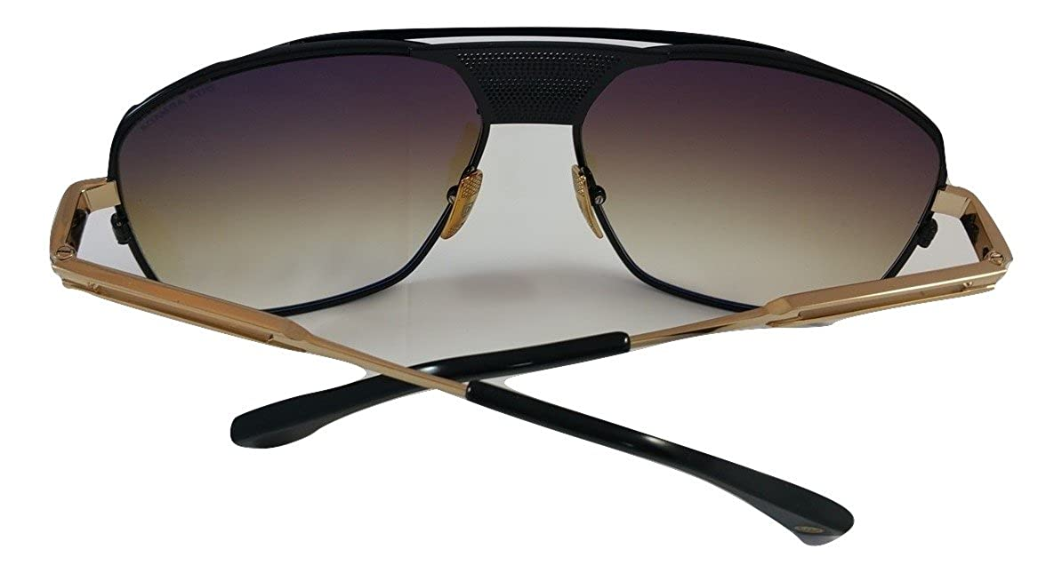 1b84242cc585 DITA Armada Men DRX-2045-B Gold   Black Aviator Sunglasses with Brown Lens   Amazon.co.uk  Clothing