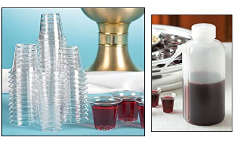 1000 Disposable Plastic Communion Cups and Cup Filler