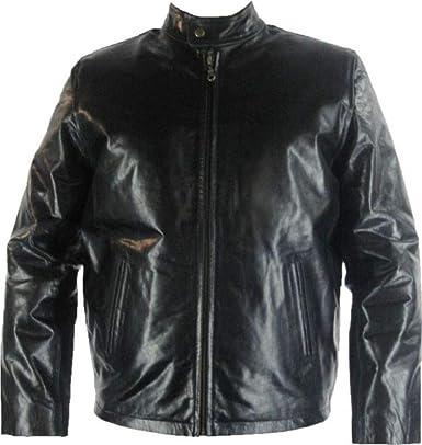 UNICORN Mens Classic Short Fashion Coat Real Leather Jacket Black Nappa #Y4