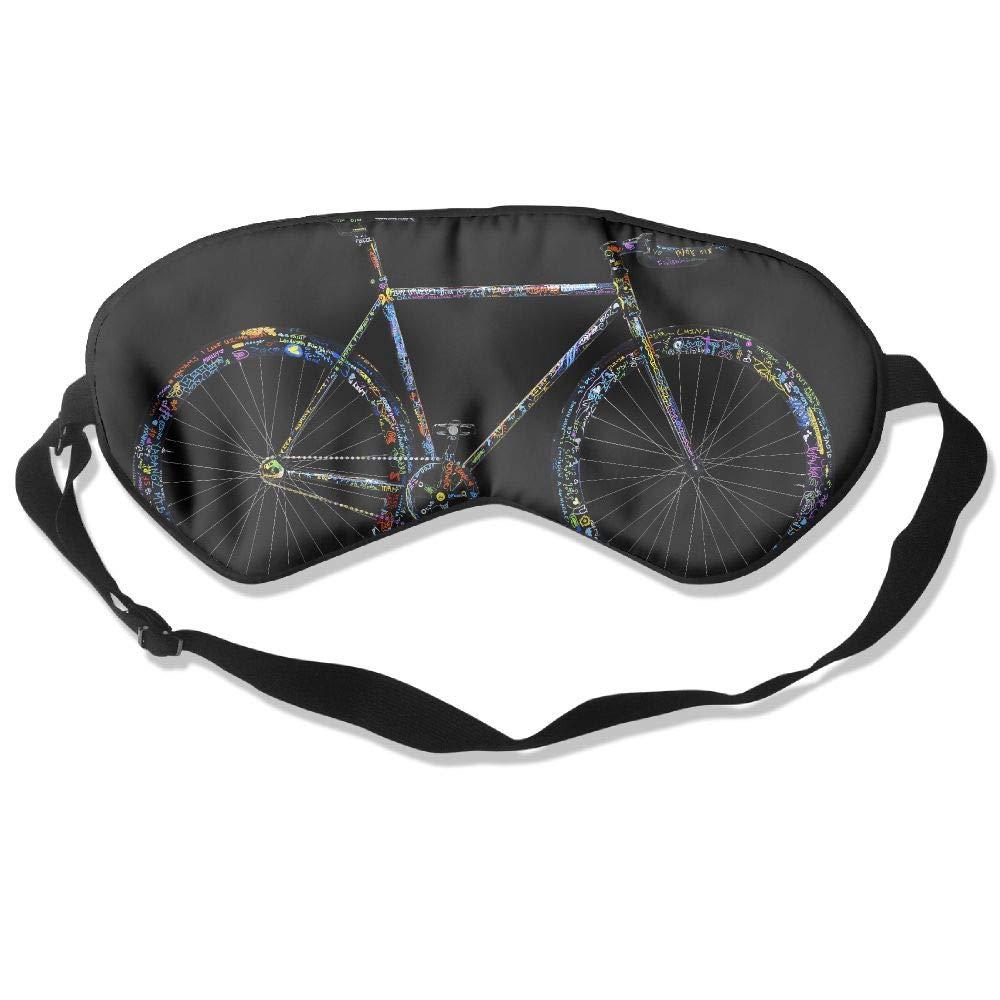 Mulberry Silk Sleeping Masks Colorful Words Bicycle Eyepatch Eye Masks Adjustable Sleeping Eye Shade Goods Shops