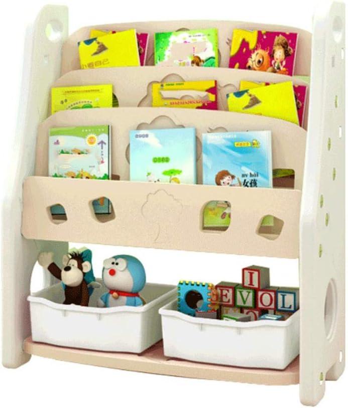 子供用おもちゃ収納ラック 子供の寝室プレイルーム幼児のおもちゃ収納オーガナイザー用のプラスチックビン付き おもちゃ箱 ラック (Color : White, Size : 80*35*95CM)