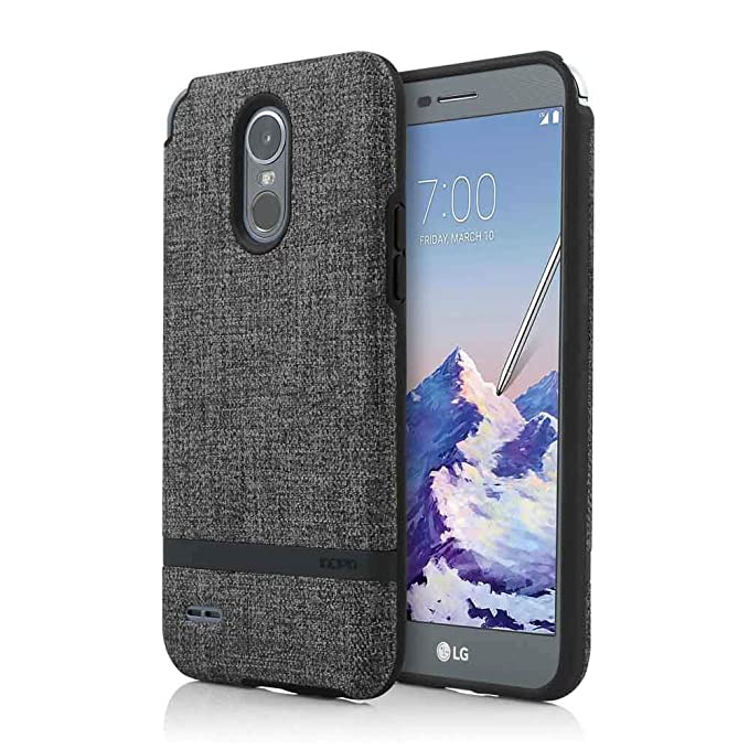 best service 4df39 fc6c4 LG Stylo 3 Plus Case, Incipio [Esquire Series] Co-Molded, Shock-Absorbing  Cover - Carnaby Case for LG Stylo 3 Plus-Gray