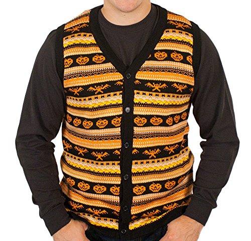 Spooky Halloween Sweater Vest in Black By Festified (3X-Large)