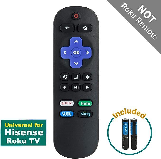 Mando a Distancia para Hisense Roku TV para Hisense Smart TV 50R7E 65R7E 43R6E 65R6E1 R6070 50R7050E 32H4030F 40H4030F1 32H4E1 58R6E TV 50R7F 55R7F, HU-RCRUS-20G con Pilas: Amazon.es: Electrónica