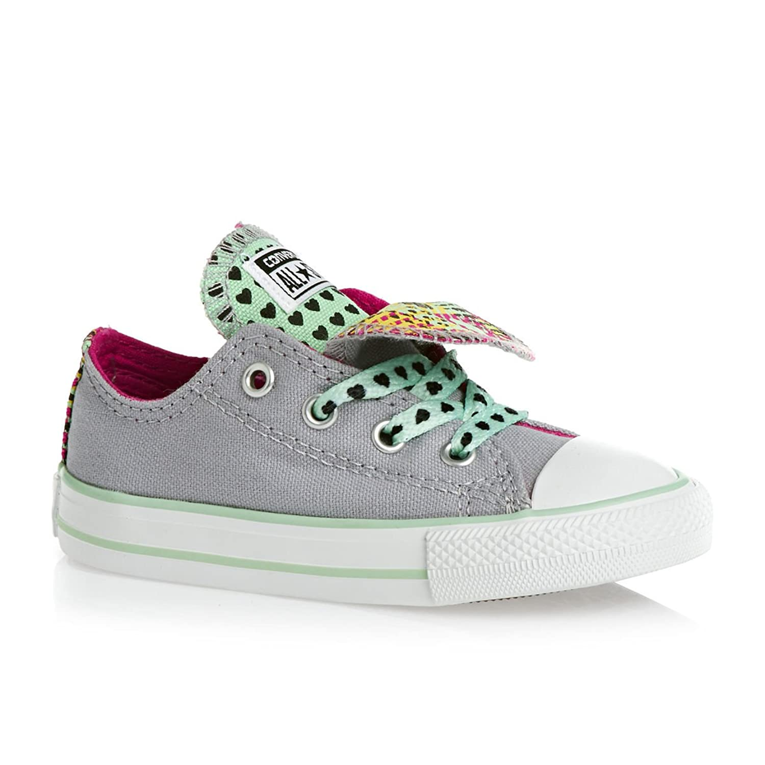 Infants Converse CT Double Tongue Ox Trainers Lucky Stone