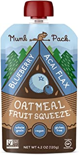 product image for Munk Pack Oatmeal Fruit Squeeze   Blueberry Acai Flax   Ready-to-Eat Oatmeal On The Go   4.2 oz, 6 Pack