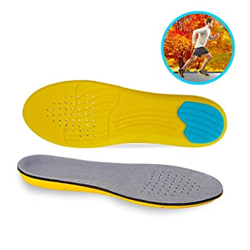 bf224d00593a3 Isparks Sport Inserts for Gel High Arch Support Shock Absorption &  Cushioning Insoles for Plantar...