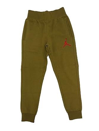 9283beff47ea5d Amazon.com  Men s Jordan Militia Green Gym Red Varsity Sweatpants (L ...