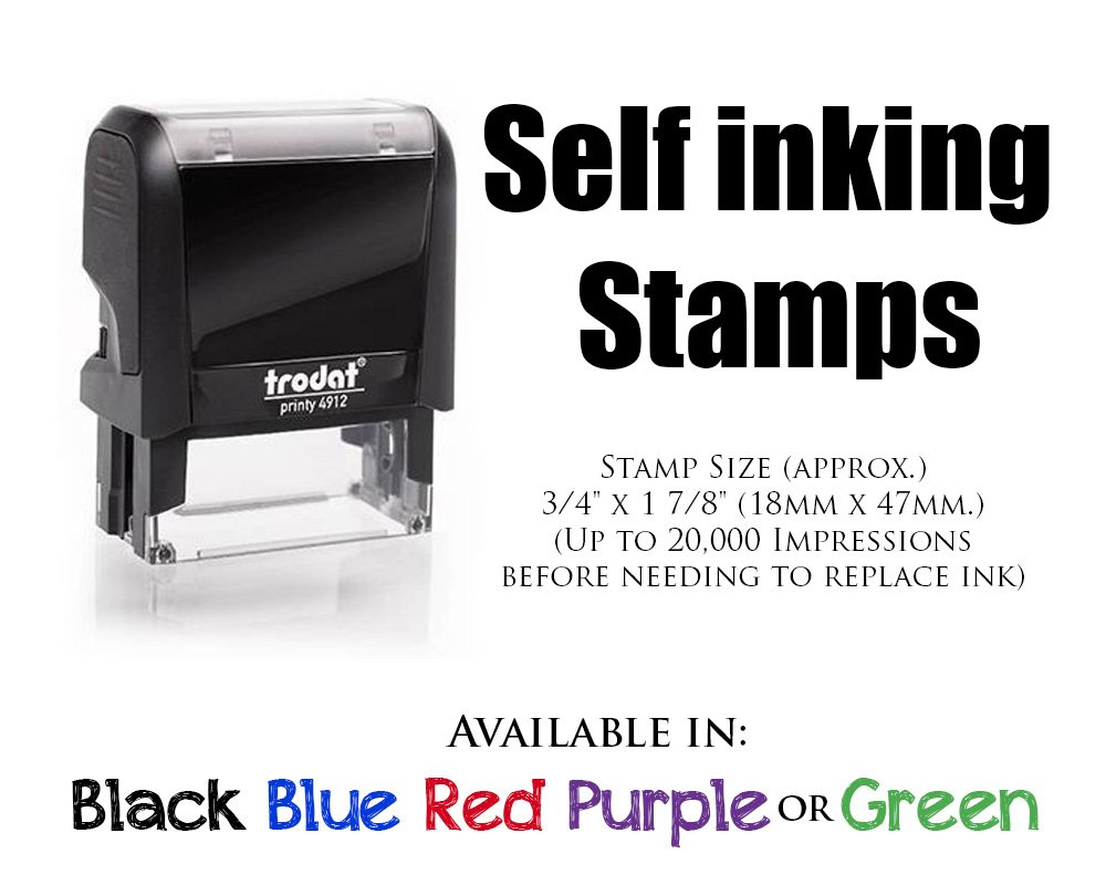 Personalized Custom Signature Stamp. Great Labelling Rubber Stamp With Unique Font. Perfect For Bank Deposits, Registered Nurses, Home, Office Or Schoolwooden Handle Stamper by Pixie Perfect Stamps (Image #3)