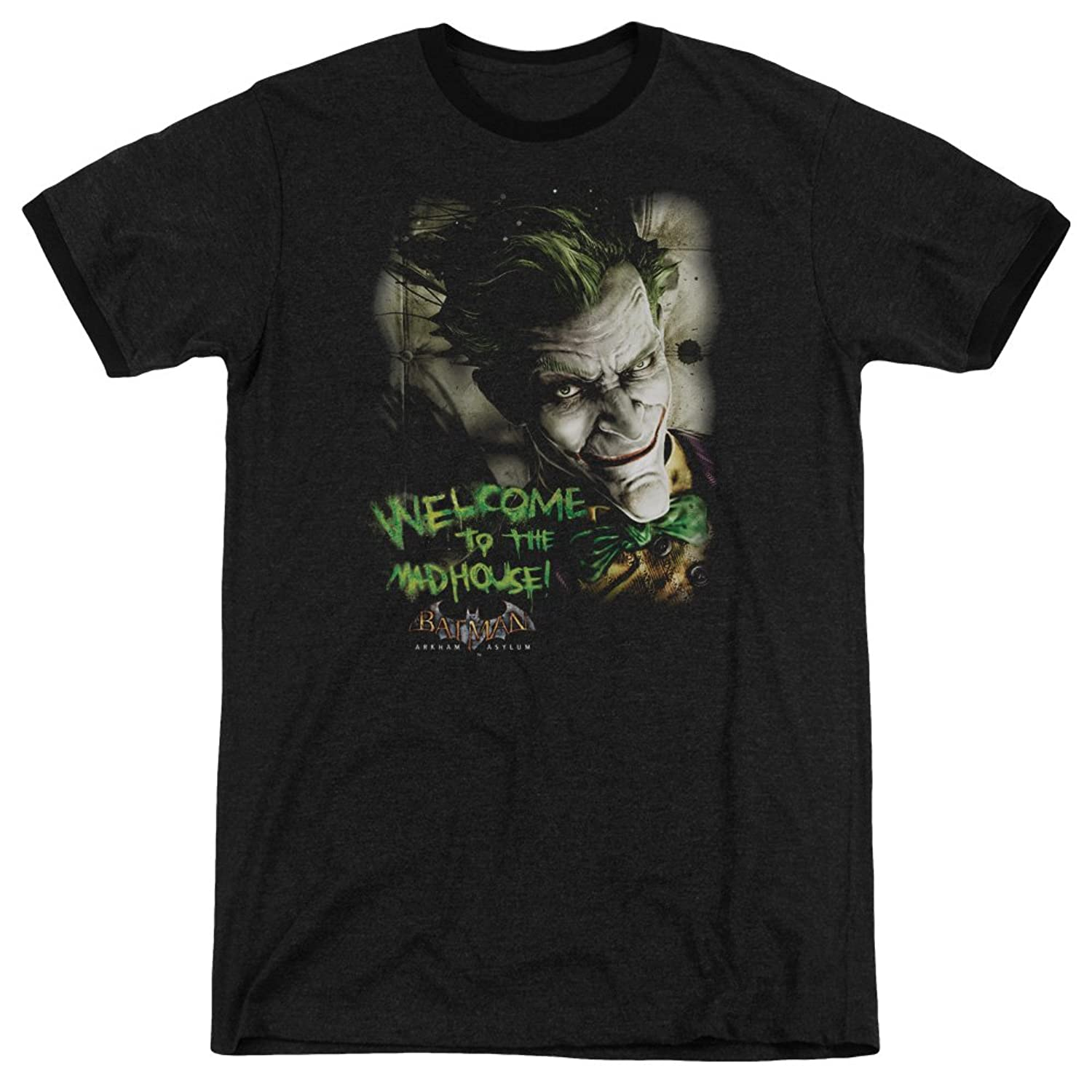 Batman Men's Welcome To The Madhouse Ringer T-Shirt