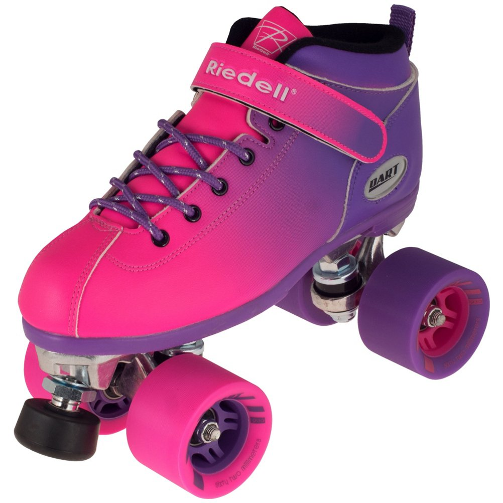 Riedell Dart Ombre Speed Roller Skates 2017-4.0/Purple Pink by Riedell