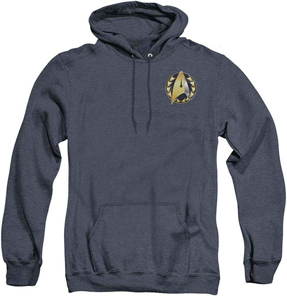 A&E Designs Star Trek Heather Hoodie Discovery Admiral Badge Navy Hoody