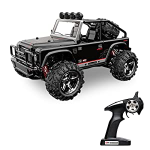 Best Rc Rock Crawler - Vatos RC Cars Off Road High Speed 4WD 45km/h 1:22 Scale 50M Remote Control 2.4GHz Electric Vehicle Buggy RC Trucks with LED Night Vision VL-BG1511A-B – Get in black or silver