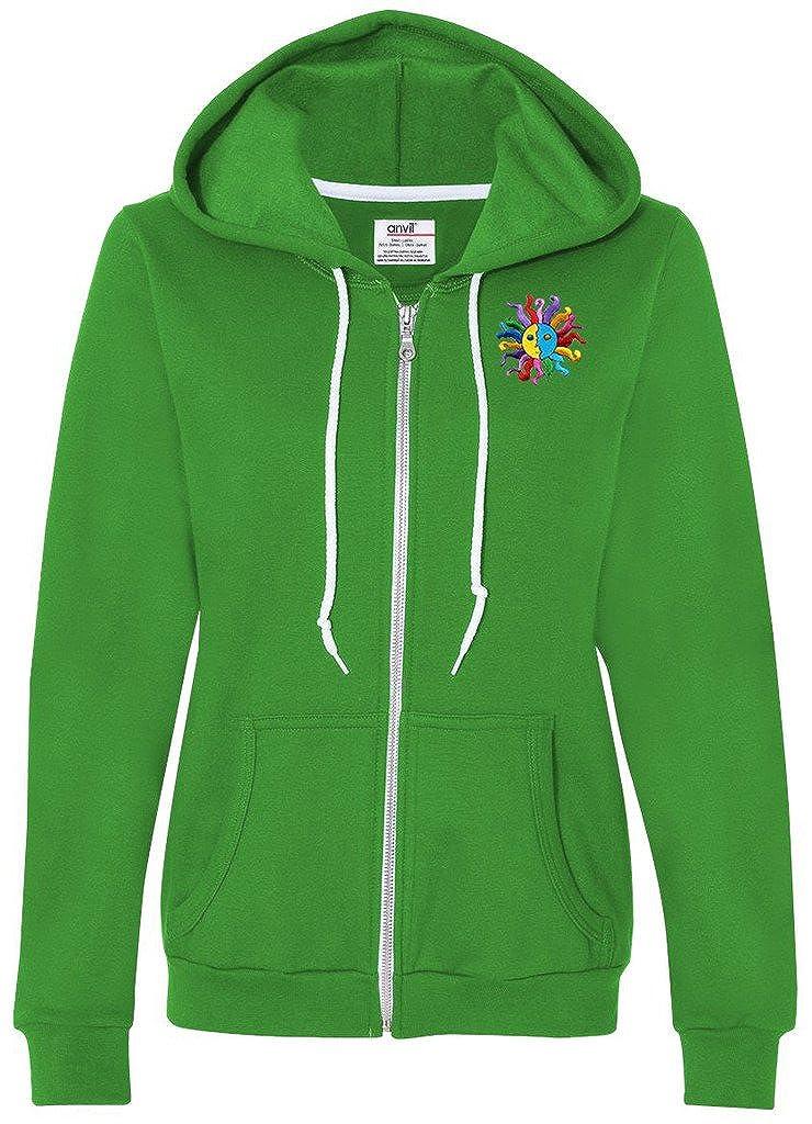 Green Apple XXLarge Yoga Clothing For You Ladies Hippie Sun Full Zip Hoodie