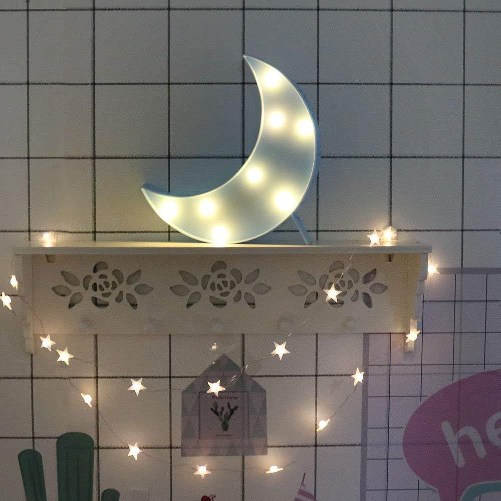Amazon.com: CAKKA Marquee Moon Light, Decorative LED Half ...