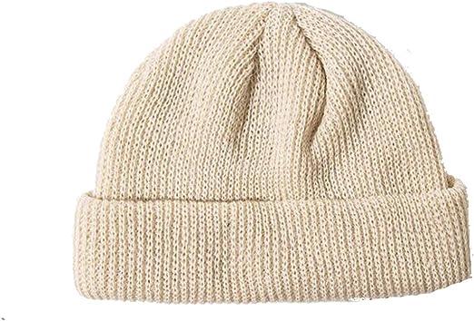 1X Beanie Hat Women Winter Ribbed Fisherman Men Unisex Ski Turn Warm Hats Winter