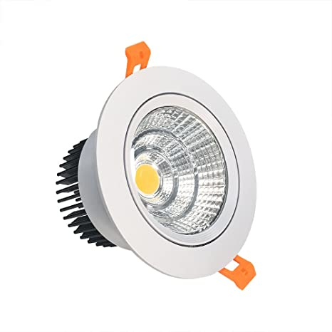 LightingWill LED Downlight 16W CRI80 Dimmable COB Directional Recessed Ceiling Light Cut-out 4.5in