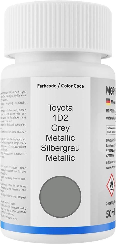 Mg Prime Autolack Lackstift Set Für Toyota 1d2 Grey Metallic Silbergrau Metallic Basislack Klarlack Je 50ml Auto