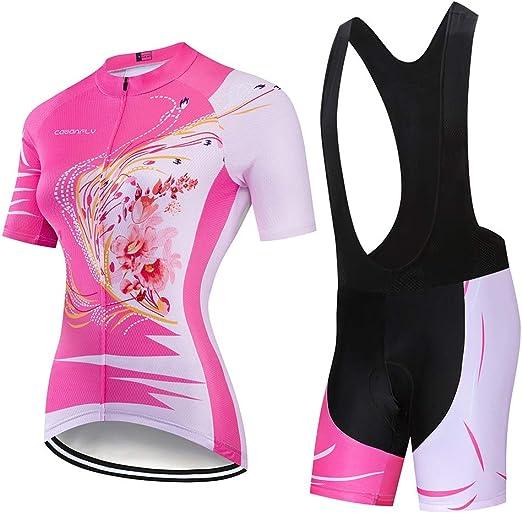 Traje de jersey de ciclismo para mujer Verano Jersey de manga ...