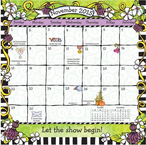 Blue Mountain Arts 2015 Mini Wall Calendar Dare to Be Wacky Live a Life Worth Loving by Suzy
