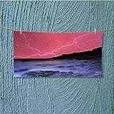 alsoeasy Swimmer Towel Bolts withSky Like Solar Lights Phenomenal ES Pink Grey Moisture Wicking L27.5 x W11.8 inch