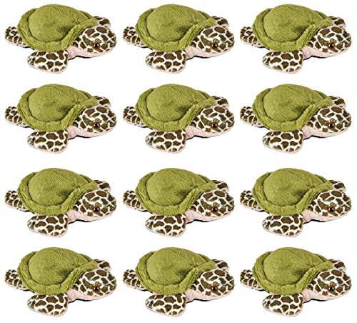 Plush Animal Miniature (Wildlife Tree 3.5 Inch Sea Turtle Mini Small Stuffed Animals Bulk Bundle of Ocean Animal Toys or Sea Party Favors for Kids Pack of 12)