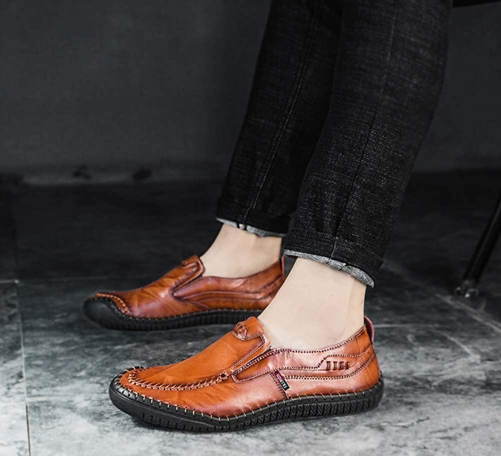 GLSHI Men Casual Loafer 2018 Autumn New Handmade Fashion Shoes Lightweight Driving Shoes