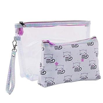 7a77fe8609 Amazon.com   Langbowan Multifunction Cosmetic Bag Portable Makeup Bag  Waterproof Wash Bag Color PGrayish white 1 Pc   Beauty