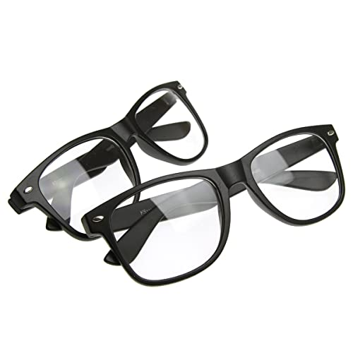 3e1de77e8a4f Image Unavailable. Image not available for. Color  Flat Matte Classic Geek  Nerd Glasses Horn Rimmed Eyeglasses UV400 Clear Lens ...