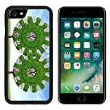 Liili iPhone 7 Case and iPhone 8 Case Silicone Bumper Shockproof Anti-Scratch Resistant Tempered Glass Hard Cover Cloud computing growth and the future of virtual storage and internet based remote de