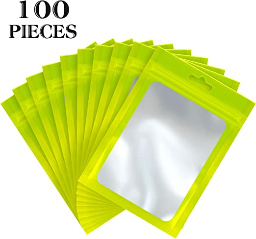 Amazon Com 100 Pieces Resealable Mylar Ziplock Food Storage Bags