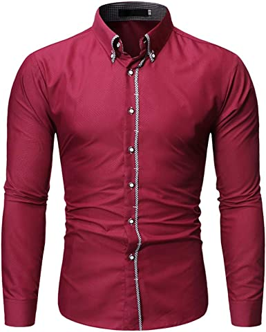 Heetey Camisa Top Hombres Moda Sello Camiseta de Manga Larga Impreso Blusa de Manga Larga Invierno