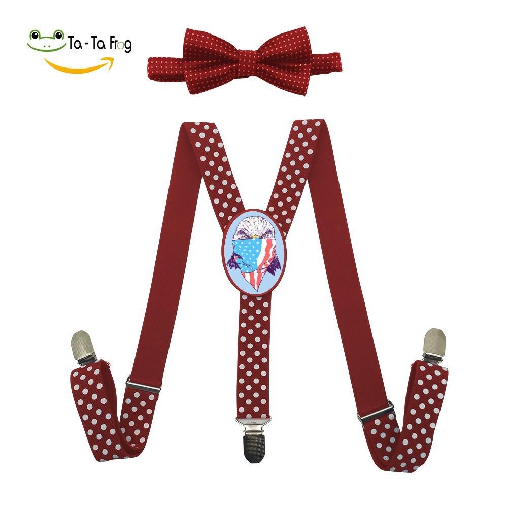 Grrry Kids Bald Bandit Adjustable Y-Back Suspender+Bow Tie