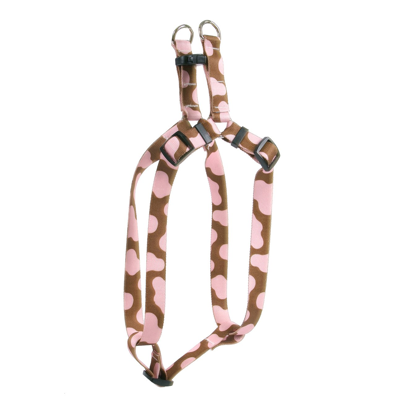 Yellow Dog Design Pink Cow Step-In Dog Harness, X-Small-3/8'' Wide and fits Chest Circumference of 4.5 to 9''