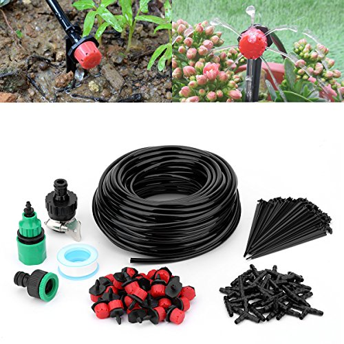 """Youngneer Automatic Drip Irrigation Kits Plant Watering System with 82FT 1/4"""" Tubing Hose 30 PCS Emitters Greenhouse Patio Garden Flower Bed DIY Self Irrigation System by Youngneer (Image #6)"""