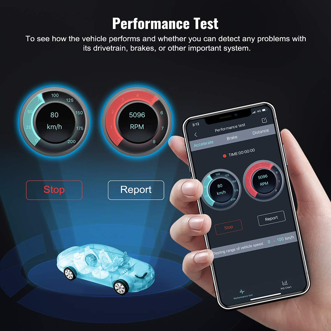 AUTOPHIX 3210 Bluetooth OBD2 Enhanced Car Diagnostic Scanner for iPhone, iPad & Android, Fault Code Reader Plus Battery Tester Exclusive App for Quality-Newest Generation by AUTOPHIX (Image #6)