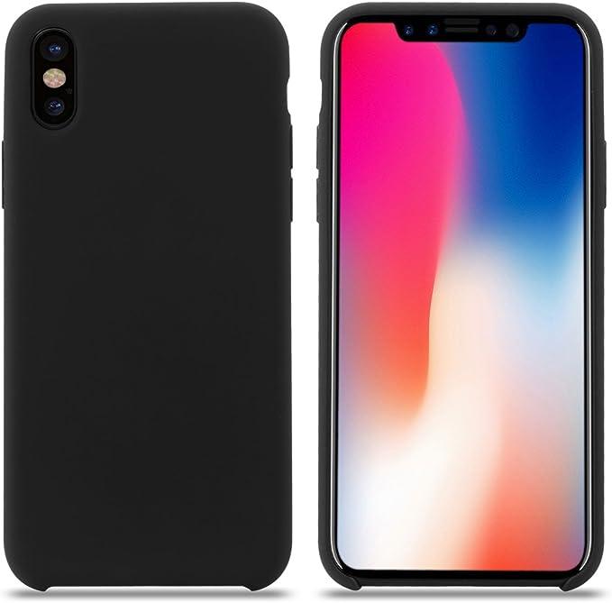119 opinioni per Cover iPhone XS, Custodia Antiurto Gomma Gel Silicone Liquido con Fodera Tessile