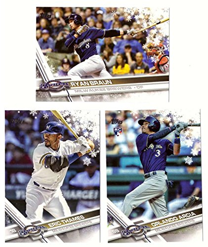 2017 Topps Walmart Holiday Snowflake - MILWAUKEE BREWERS Team Set